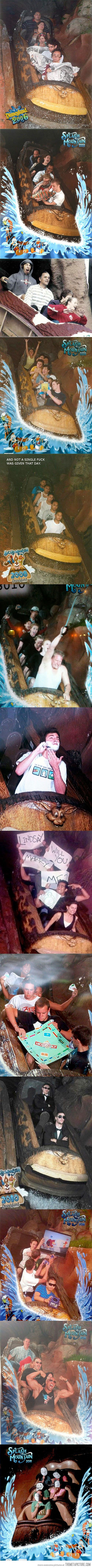 The best pictures of Disneyland's Splash Mountain. Creative and hilarious!