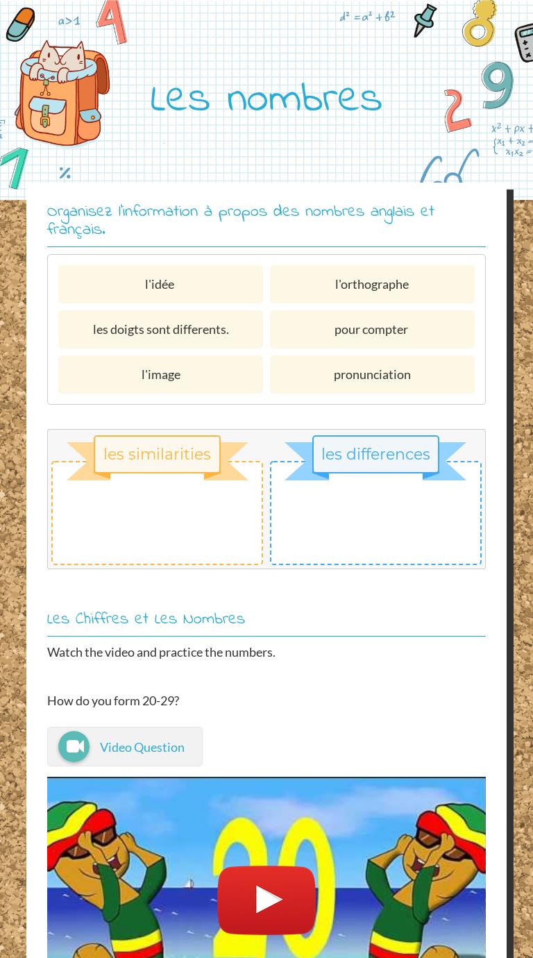 Les Nombres Worksheet Learning Worksheets French Worksheets Worksheets [ 1380 x 768 Pixel ]