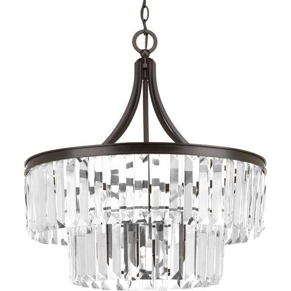 House of Hampton Eggar 5-Light Crystal Chandelier Base   Chandeliers ...