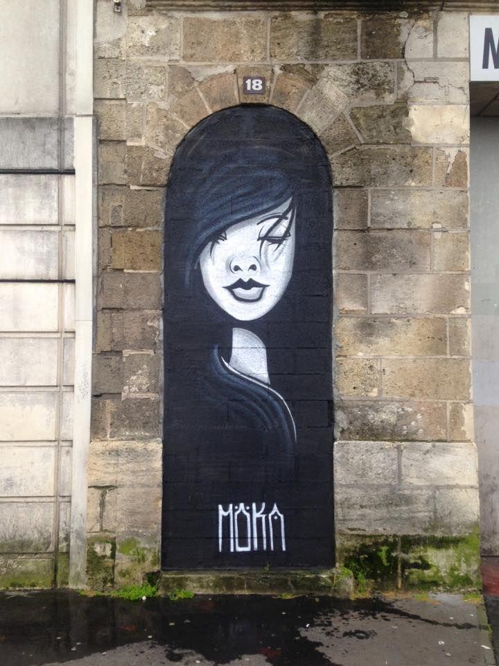 "Möka UNO, ""Une femme en noir"" ,  Bordeaux ,France, 2016"
