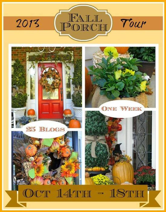 25 Bloggers Fall Decorating Ideas Front porches, Porch and Decorating - halloween fall decorating ideas