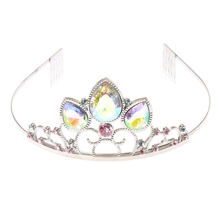 Claire S Club Silver Princess Tiara Crystal Tiaras Fashion Accessories Jewelry Headband Tiara