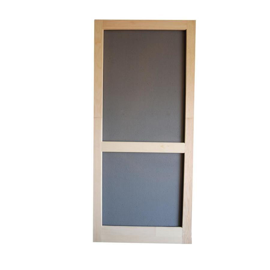 Screen Tight Natural Wood Frame Hinged Single Bar Screen Door Lowes Com Decorative Screen Doors Wood Screen Door Sliding Screen Doors