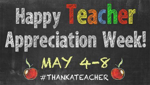 May 4 8 National Teacher Appreciation Week Teacher Appreciation Week Schedule Teacher Appreciation Week Teacher Appreciation