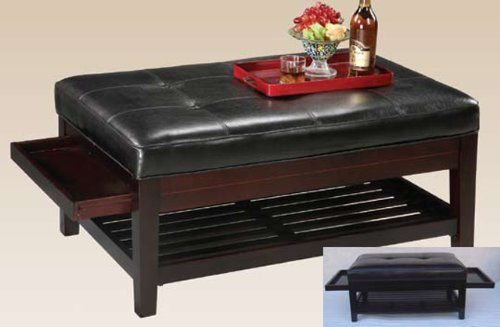 Coffee Table With Pull Out Trays In Espresso Finish By H P P Hp