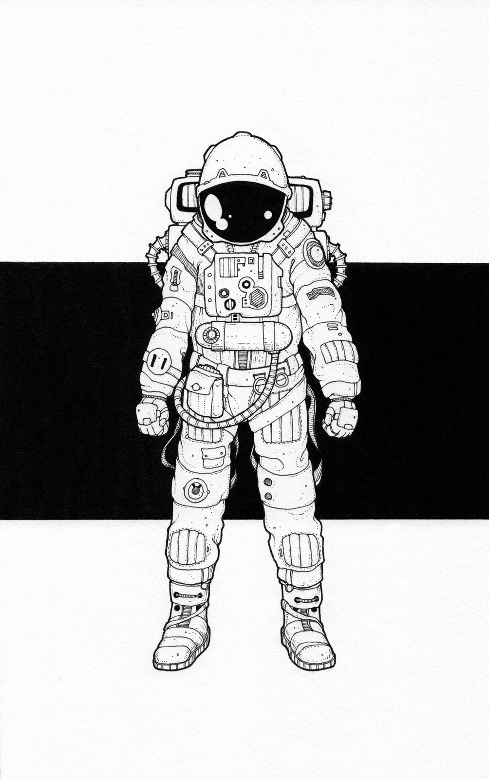 Line Art Space : Drawings doodles and design astronaut i ve always