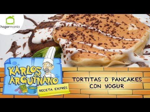 Receta de Tortitas o pancakes con yogur por Eva Arguiñano - YouTube