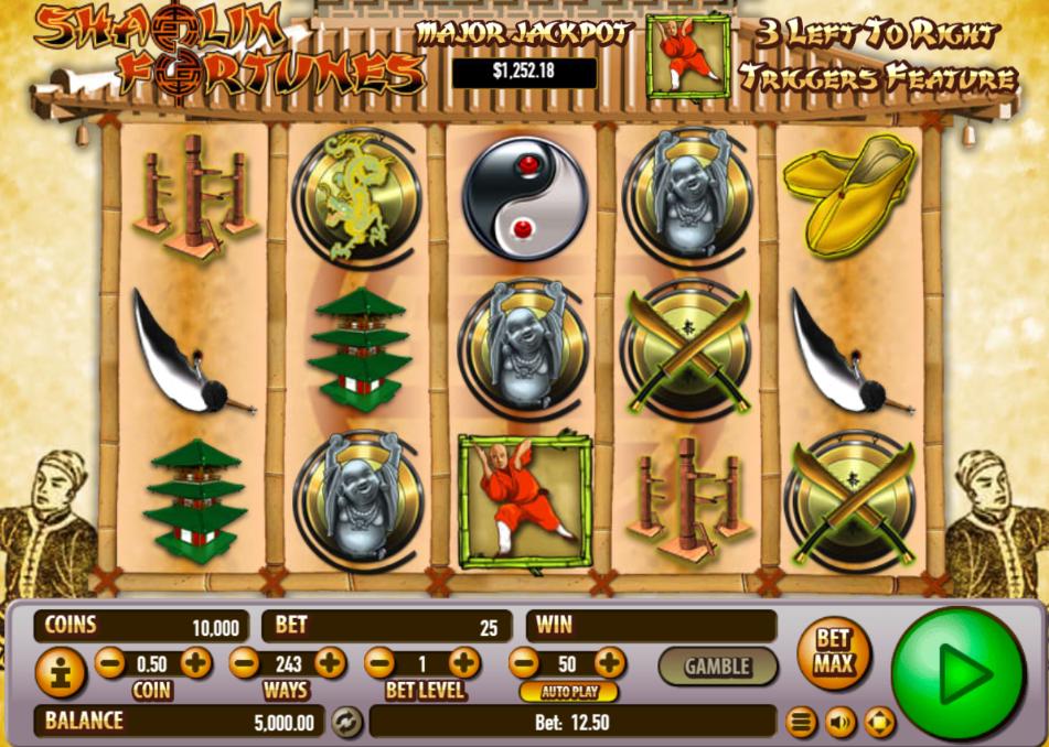 Shaolin Fortunes Free Play Slot Machine