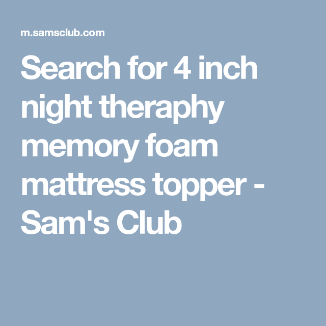 Search for 4 inch night theraphy memory foam mattress topper