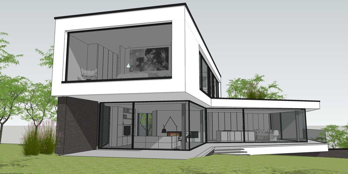 Une villa contemporaine à toit plat dans le Brabant wallon | Plans ...