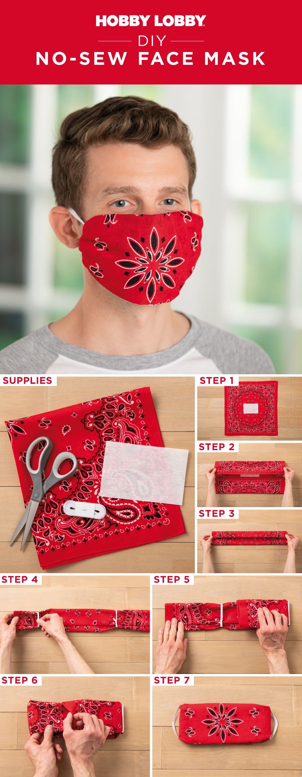 Photo of DIY No-Sew Face Mask