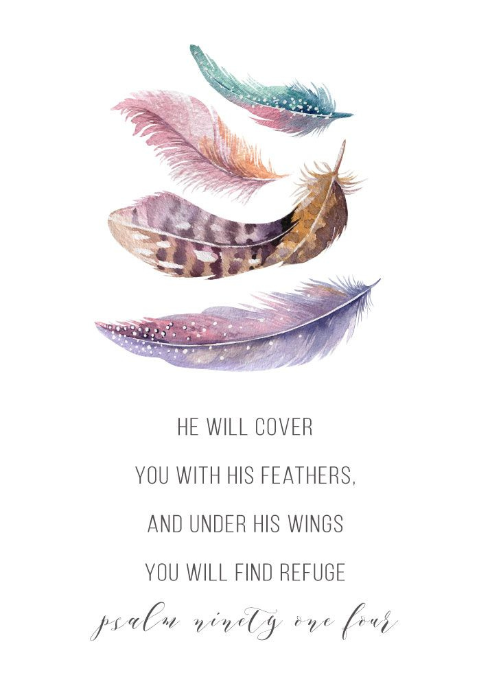He Will Cover You With His Feathers Psalm 91 4 Christian Art