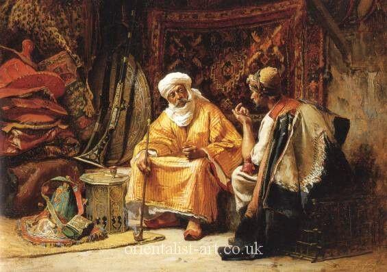 The Rug Merchant Frederick Arthur Bridgman Bridgman Middle Eastern Art Oriental Art