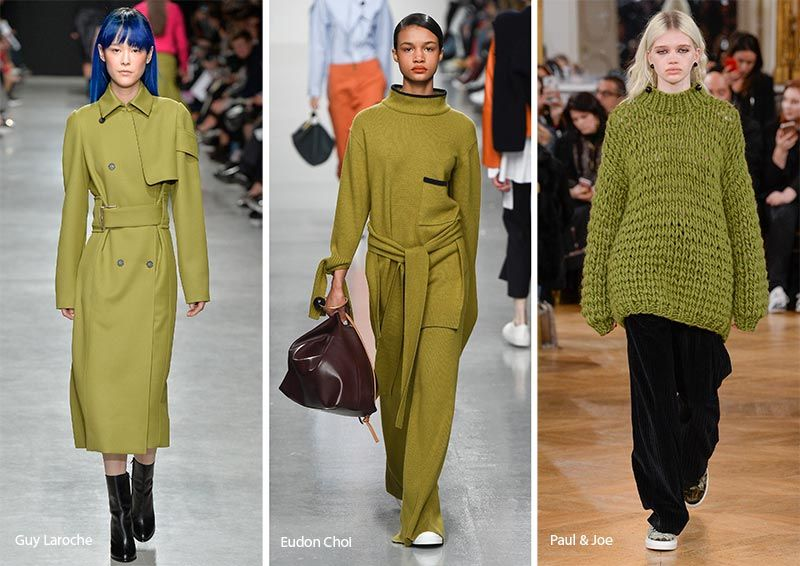 Image result for lime fall 2018 runway fashion