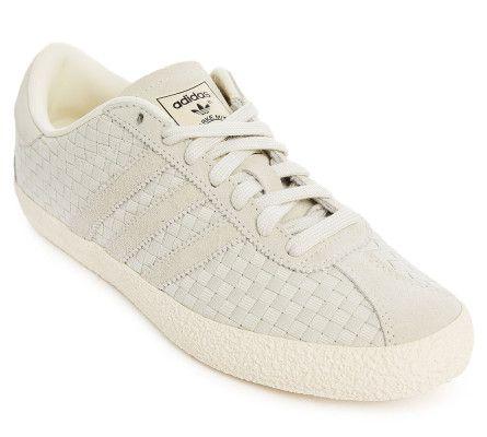 de954b8832da6 Love this  Gazelle 70S White Weave Sneakers  Lyst Adidas Sneakers