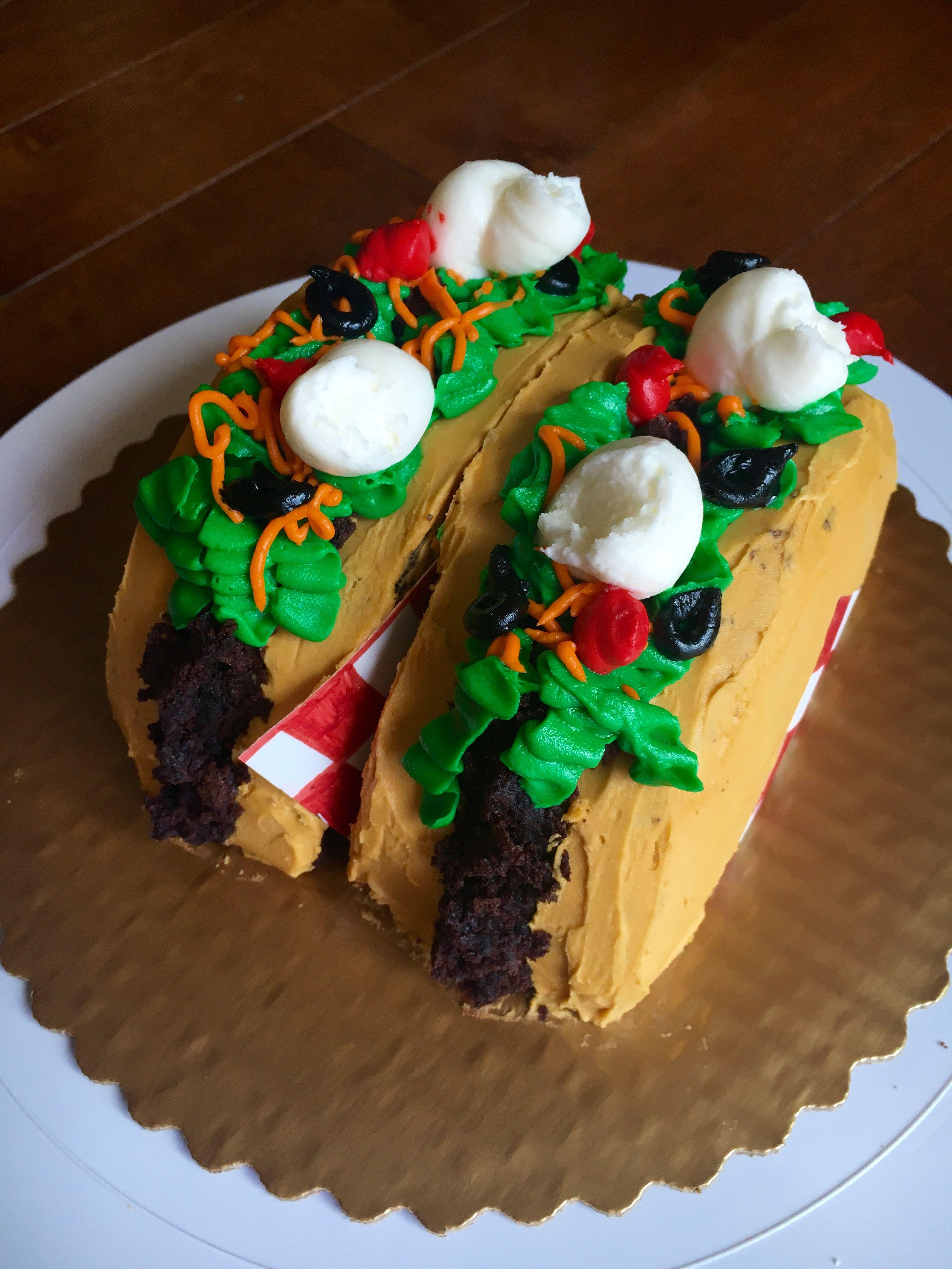 Taco Birthday Cake Tacocake Let Them Eat Cake Pinterest Eat