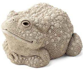 Cast CONCRETE Stone TODD WARTSMITH Frog Toad SCULPTURE Outdoor Indoor STATUE by e-earth-exchange. $39.95