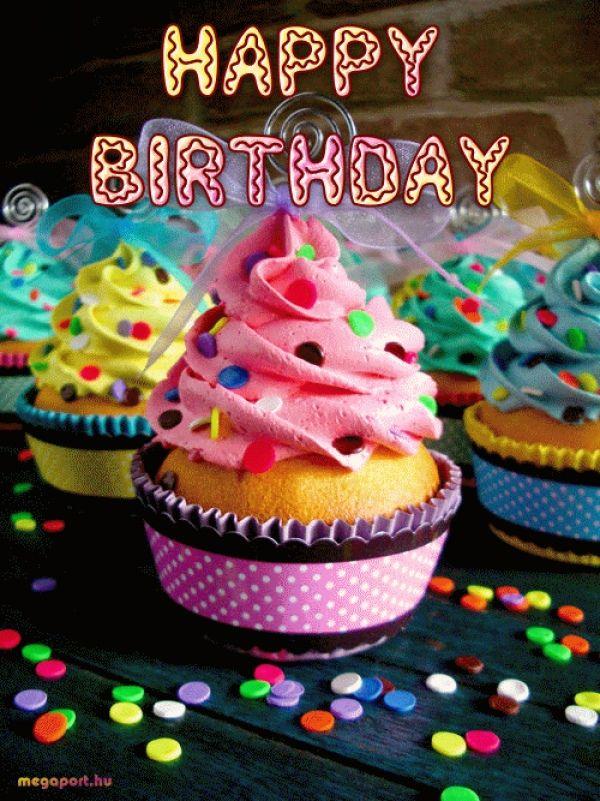 Happy Birthday Cupcakes Animated Gif Happy Birthday Cupcakes
