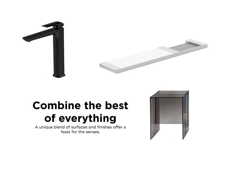 Stone. Steel. Glass. Timber. It's about bringing unique materials together in innovative ways to create something fresh, distinct and new. combine the best of everything.