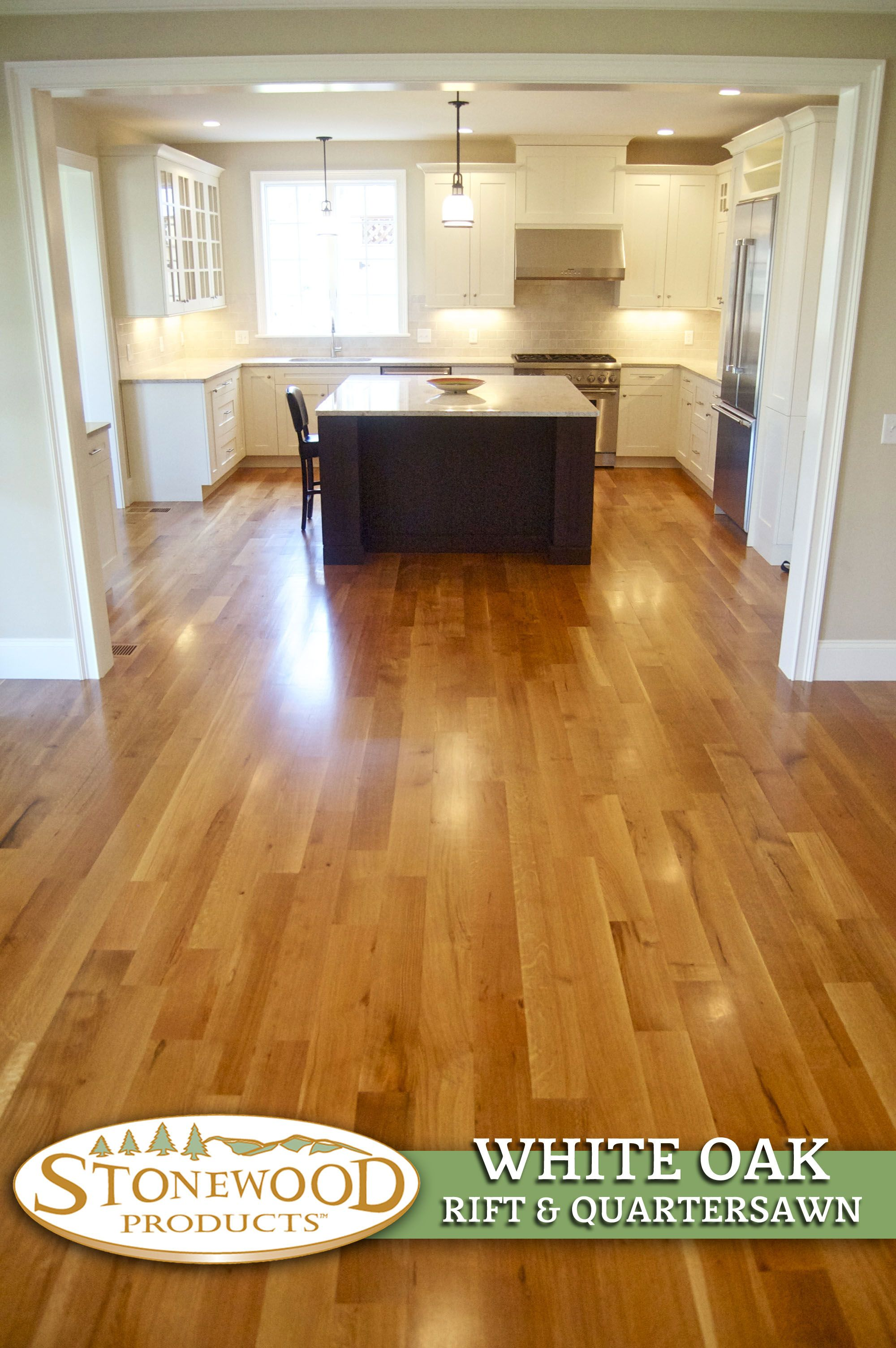 Oak Flooring Kitchen Beautiful Kitchen W White Oak Flooring By Stonewoodproductscom