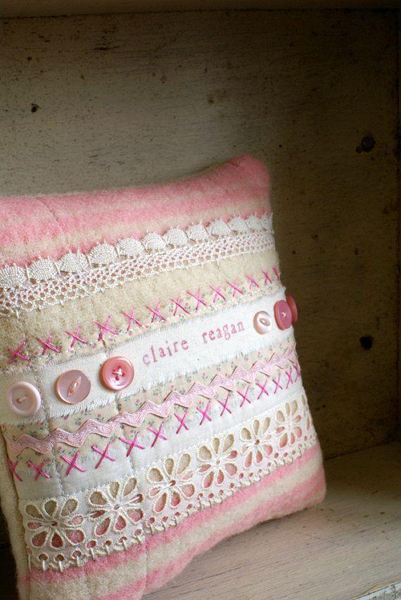 Personalised New Baby Keepsake Art Quilt Pillow By Homespunireland