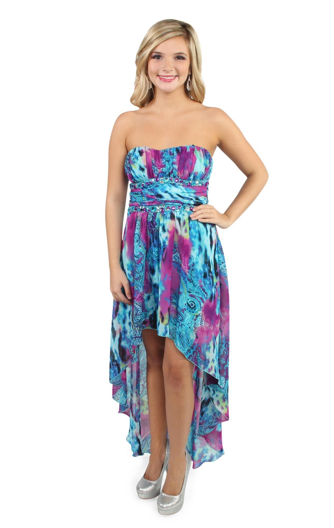 paisley print chiffon high low prom dress deb | Prom / Homecoming ...