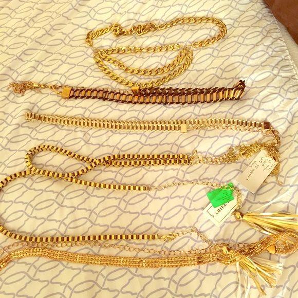 Bebe gold fashion belts Bebe fashion/ chain belts size s/m bebe Accessories Belts