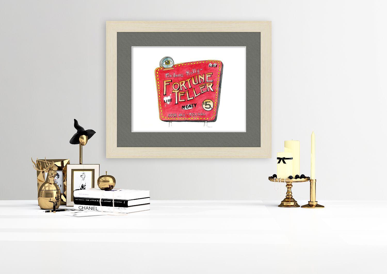 Downloadable Art Print Fortune Teller Watercolor Instant
