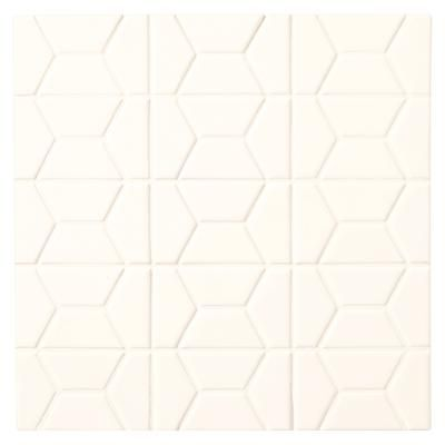 Daltile Finesse Bright White 12 Inch X 12 Inch X 8mm Glazed Ceramic Half Hex Mosaic Wall Tile 10 78 Sq Feet Case Mosaic Wall Tiles Tiles Glazed Ceramic