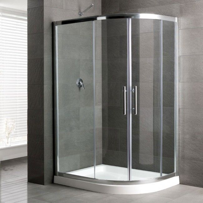 Camaro Corner Shower Enclosure 1100 X 900mm Right Handed Offset Curved Tray And Quadrant Enclosure Panels In 2020 Quadrant Shower Enclosures Quadrant Shower Shower Enclosure