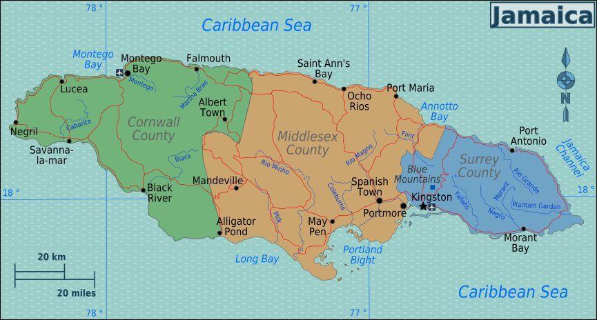 map of Jamaica Just Jamaica Pinterest Negril jamaica Negril
