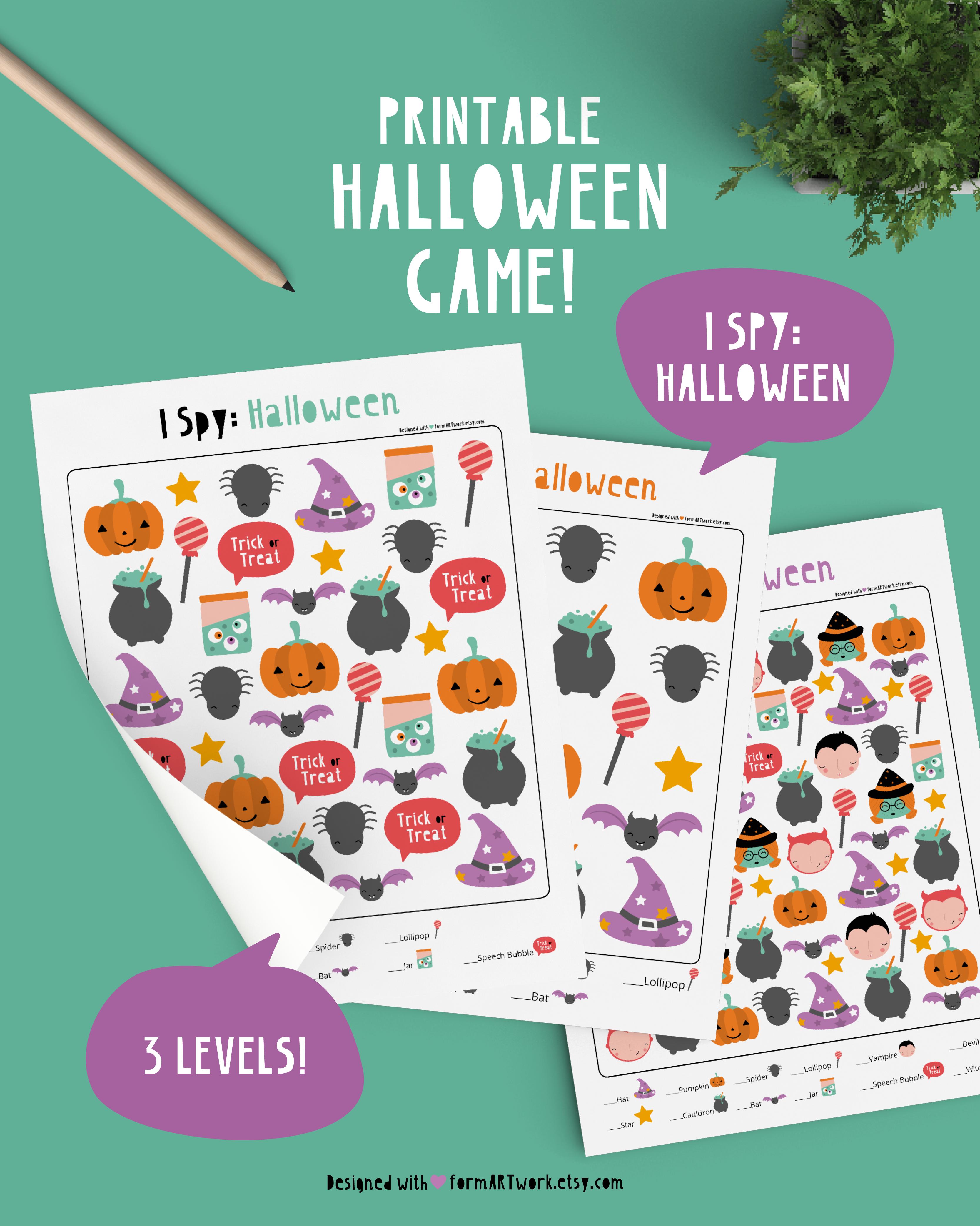 Halloween Kids Game Printable