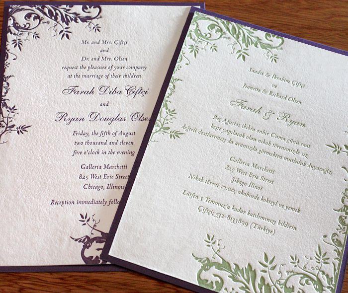 Wedding Invitations Spanish Wording: Savannah Letterpress Wedding Invitation By Invitations By