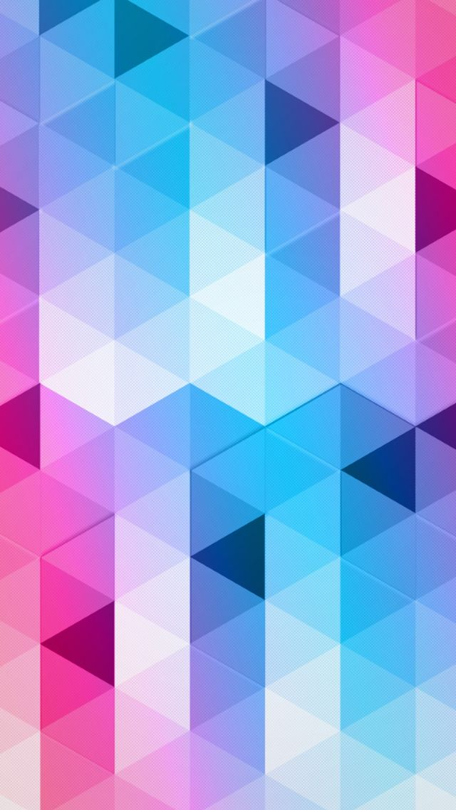 Free Colorful Geometric Wallpaper: Colorful Triangles #iPhone #5s #Wallpaper