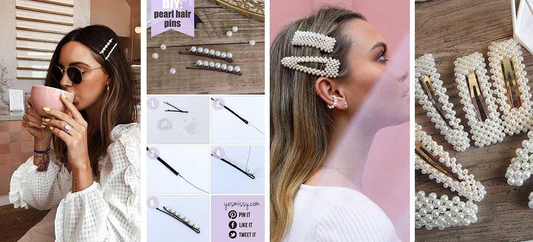 Fashion Girl Perle Pince à cheveux serre-tête Peigne Bobby Pin Barrette épingle à cheveux