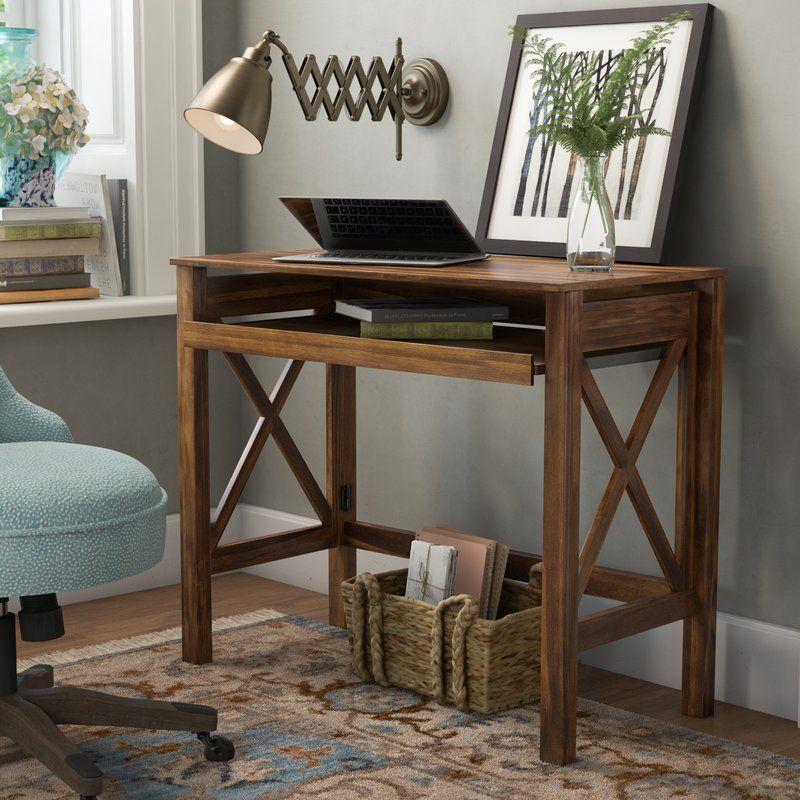 Charlton Home Thelen Solid Wood Writing Desk Reviews Wayfair