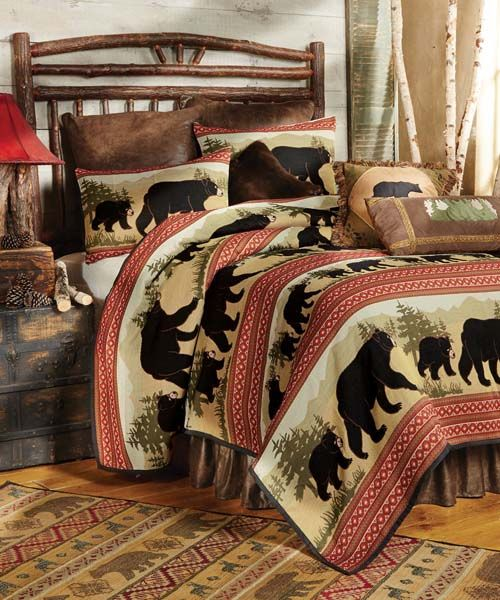 Wildlife Bedding For 2020 Wildlife Quilt Collections Cabin Decor Home Lodge Bedding