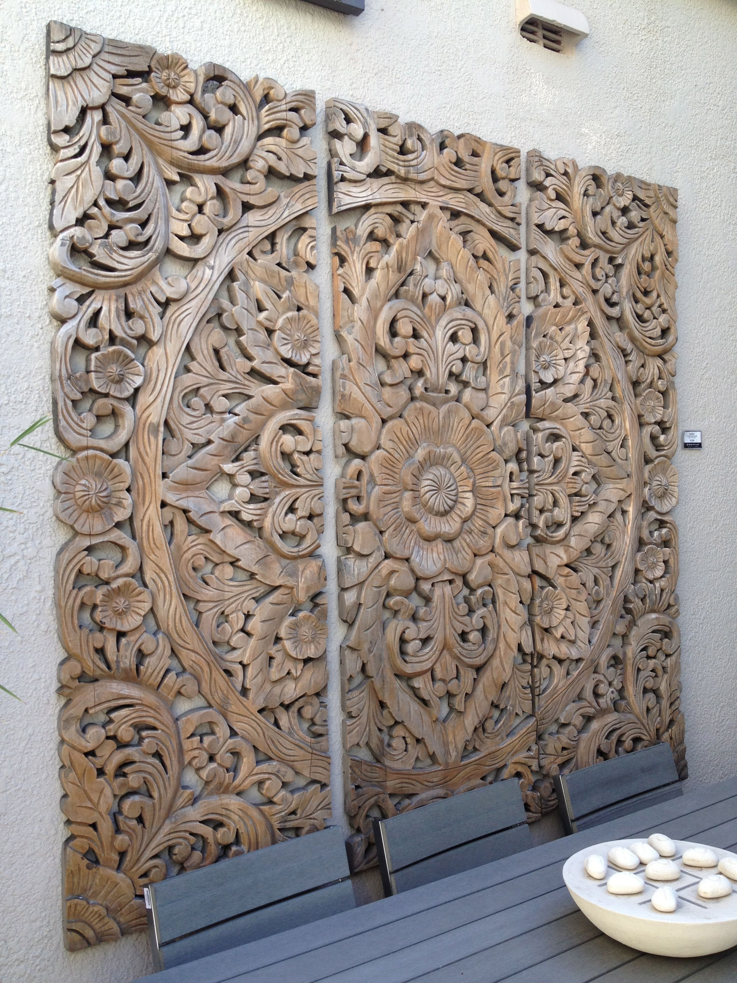LARGE MORROCAN STYLE CARVED WOOD PANEL WALL ART PICTURE BEAUTIFUL HOME DECOR...