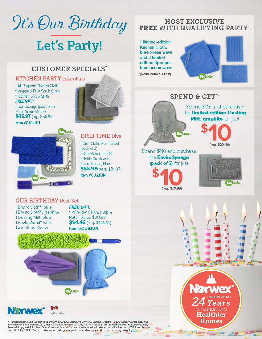Norwex Canada June Customers Host And Spend And Get Specials Norwex Norwex Party Host Rewards