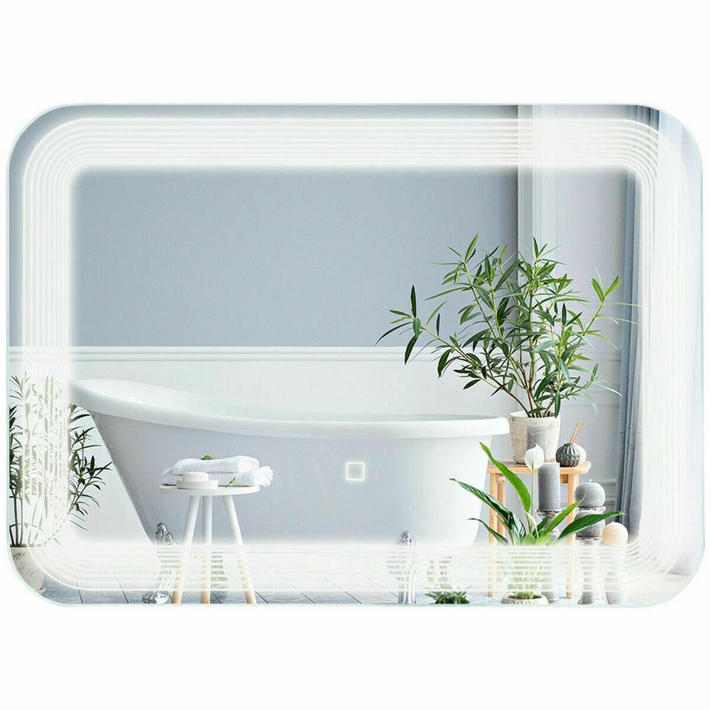 Costway 20 in. H x 1 in. D LED WallMount Mirror Bathroom