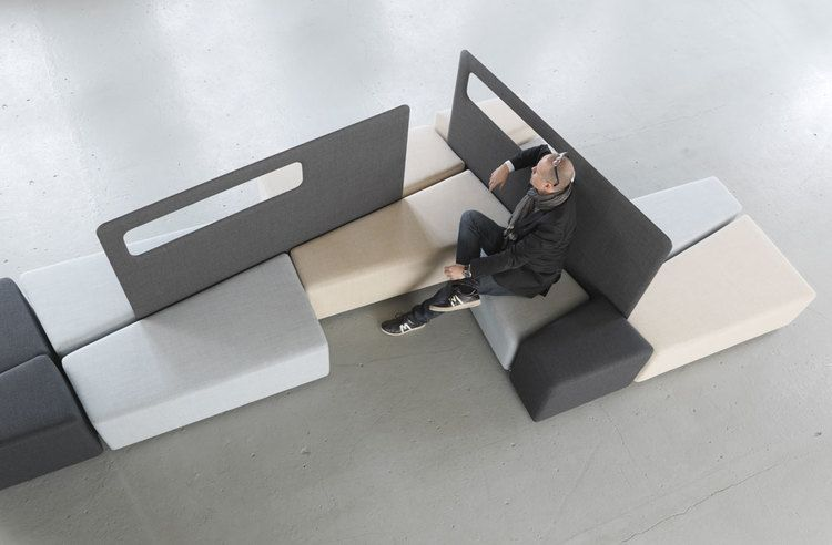 Diagonal Is An Innovative Combination Of Sofa And Space Divider For Public  Indoor Spaces. By
