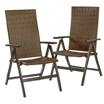 wicker reclining patio chair white fur greendale home fashions hand woven pe outdoor chairs