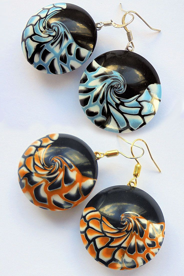 This is my interpretation of A Song of Ice and Fire. I made these earrings with my own hands. In them no paint, only polymer clay which mixed and twisted in a special way :) Fire: https://www.etsy.com/listing/523669495/black-orange-earrings-a-song-of-ice-and  Ice: https://www.etsy.com/listing/509859374/black-blue-earrings-a-song-of-ice-and