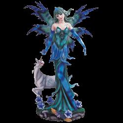 Blue Fairy with Unicorn