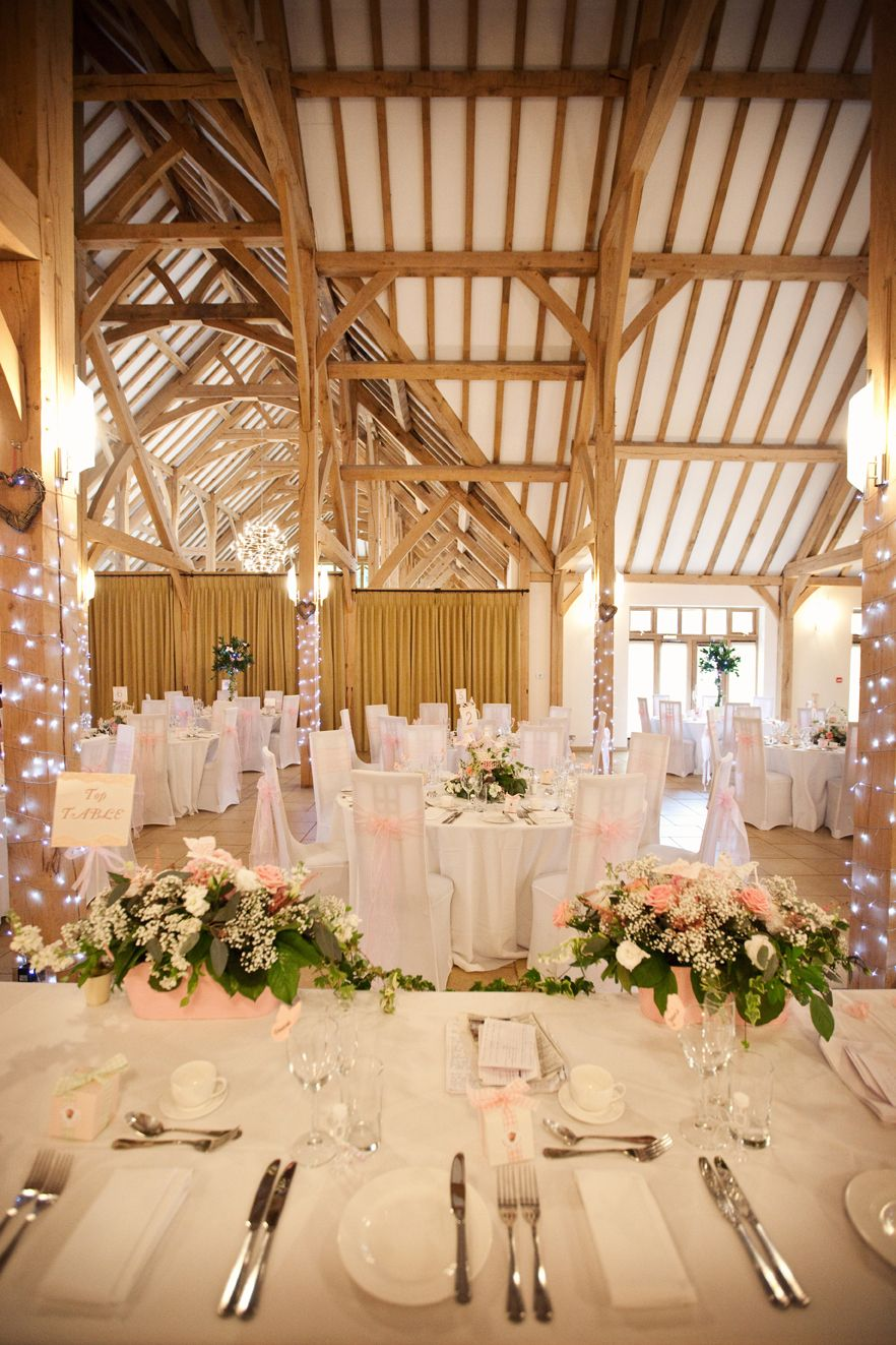 Pretty in pink at Rivervale Barn Shabby chic wedding