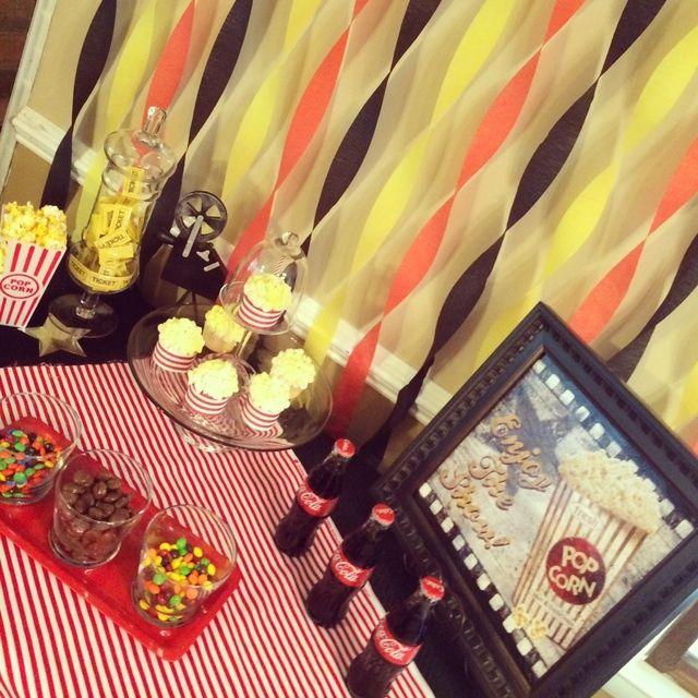 Movie & Popcorn Movie Night Party Ideas | Photo 6 of 8 | Catch My Party