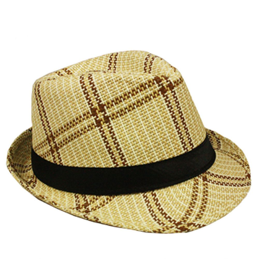 2575613e99476 Silver Fever Plaid Straw Banded Fedora  fashion  clothing  shoes   accessories  womensaccessories