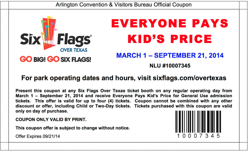 image regarding Six Flags Printable Coupons named Least complicated 6 Flags Discount codes 2019 - Financial savings, On the net Coupon Codes