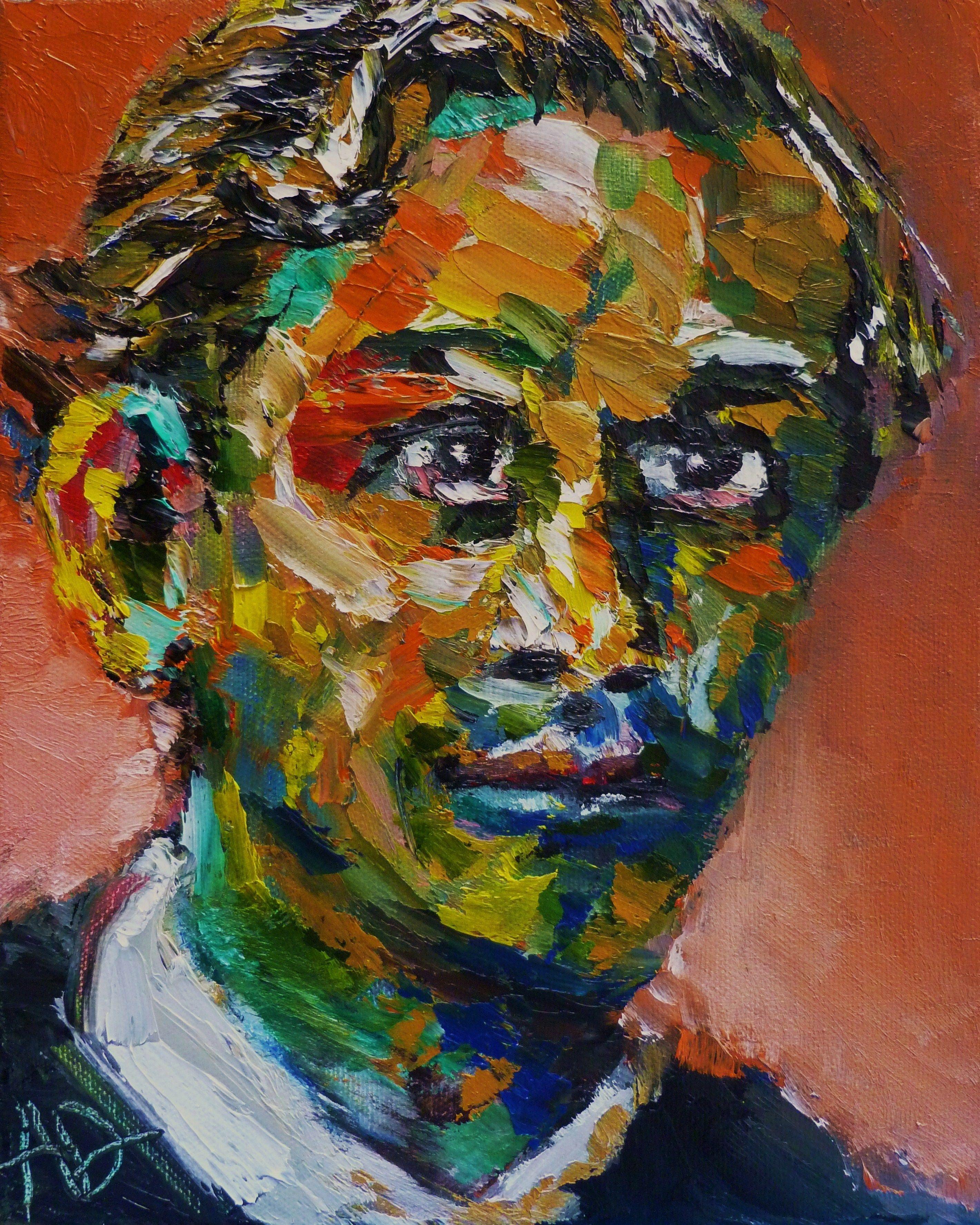 "Portrait Of Erich Heckel Oil Canvas 10x8"" Copyright 2011 Alan Derwin Degenerate"
