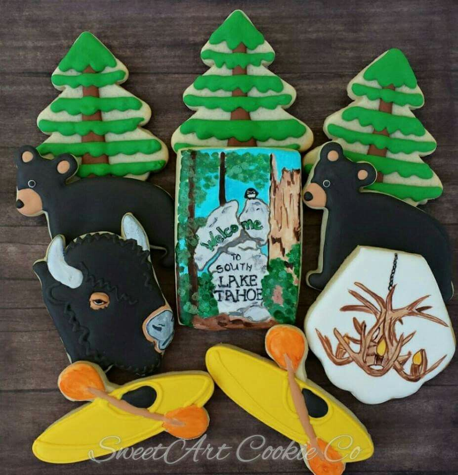 Lake Tahoe Decorated Cookies By Sweetart Cookie Co Perfect